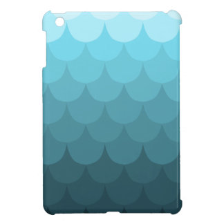 Mönster för blåttOmbre kammussla iPad Mini Mobil Skydd