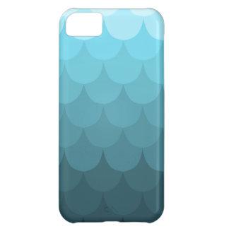 Mönster för blåttOmbre kammussla iPhone 5C Fodral
