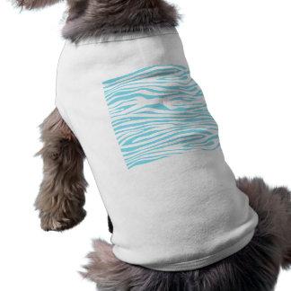Mönster för blåttsebrarand långärmad hundtöja