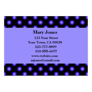 mönster för blåttsvartblomma set av breda visitkort