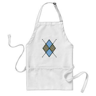 Mönster för Blue-001 Argyle Förkläde