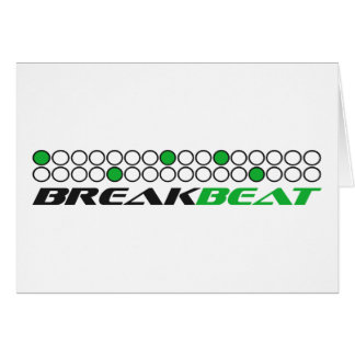 Mönster för Breakbeat musikproduktion Hälsningskort