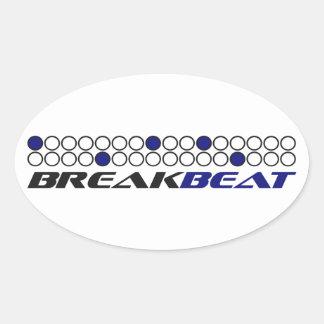 Mönster för Breakbeat musikproduktion Ovalt Klistermärke