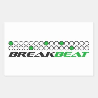 Mönster för Breakbeat musikproduktion Rektangulärt Klistermärke