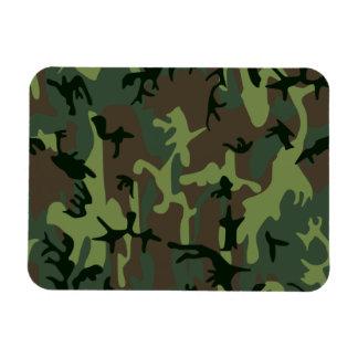 Mönster för brunt för kamouflageCamo grönt Magnet