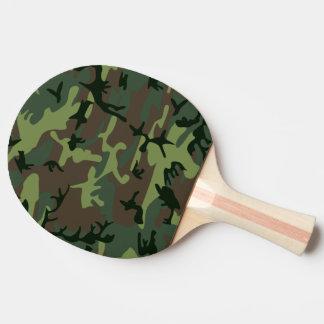 Mönster för brunt för kamouflageCamo grönt Pingisracket