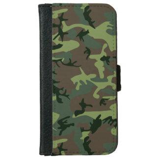 Mönster för brunt för kamouflageCamo grönt Plånboksfodral För iPhone 6/6s