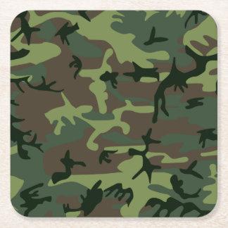 Mönster för brunt för kamouflageCamo grönt Underlägg Papper Kvadrat