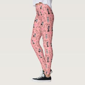 Mönster för coola för svart för rosor för mod för leggings