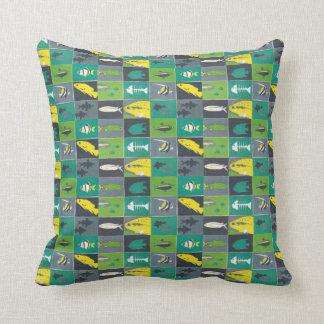mönster för dekor för fiskstrandhus kudde