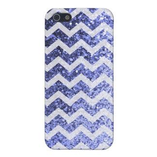 Mönster för glitterBling Sparkly sparre (blått) iPhone 5 Cases