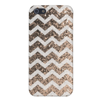 Mönster för glitterBling Sparkly sparre (champagne iPhone 5 Cases