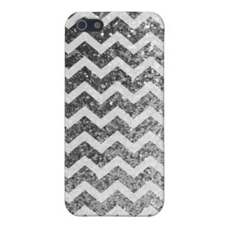 Mönster för glitterBling Sparkly sparre (silver) iPhone 5 Cases