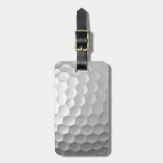 Mönster för golfbollskrattgropstruktur med namn bagagebricka