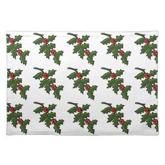 Mönster för gren för Sprig för juljärnekbär Bordstablett