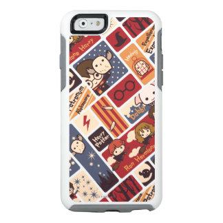 Mönster för Harry Potter tecknadplatser OtterBox iPhone 6/6s Fodral