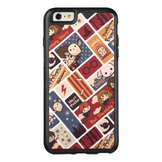 Mönster för Harry Potter tecknadplatser OtterBox iPhone 6/6s Plus Fodral