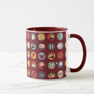 Mönster för Harry Potter tecknadsymboler Mugg