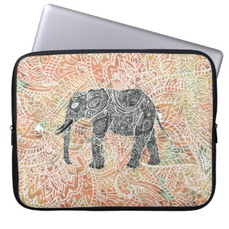 Mönster för Henna för stam- Paisley elefant färgri Laptopskydd