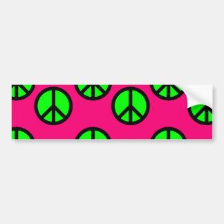 Mönster för Hippie för fredstecken för shock Bildekal
