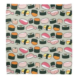 Mönster för illustrationer för Oishii Sushi roligt Bandana