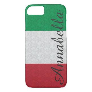 Mönster för italiensk flagga för personligMonogram