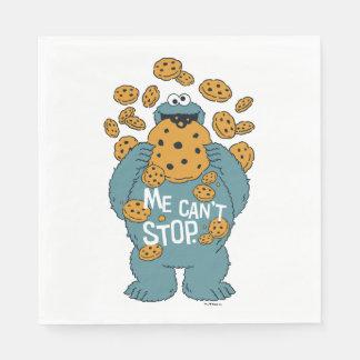 Monster för kaka för sesamgata   - jag kan inte pappersservett