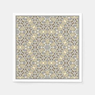 Mönster för Kaleidoscope för Taupebruntgrått beige Papper Servetter
