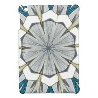 Mönster för Mandala för funkygråttblått iPad Mini Skydd