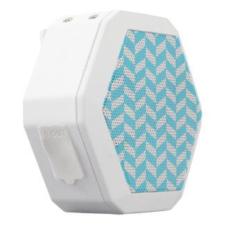 Mönster för mod för sommar för blått för vit bluetooth högtalare