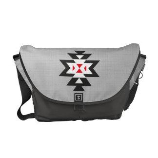 Mönster för Navajo för svart vit för grå färg rött Kurir Väskor