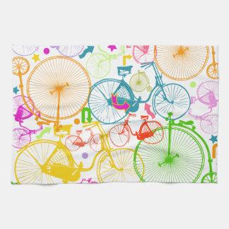 Mönster för neon för färg för modern cykel för kökshandduk
