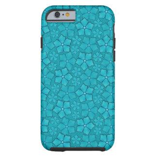 Mönster för Petals för blåttAquamarineblomma Tough iPhone 6 Fodral