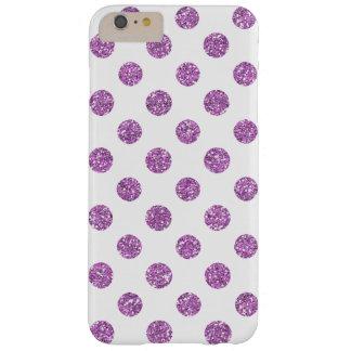 Mönster för polka dots för Fauxlavendelglitter på Barely There iPhone 6 Plus Fodral