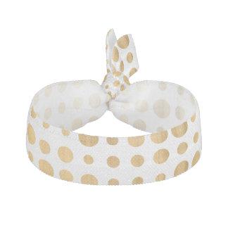Mönster för polka dots för moderiktigt guld- hårband