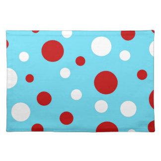 Mönster för polka dots för vit för ljus bordstablett