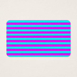 Mönster för randar för rosa kricka för neon set av standard visitkort