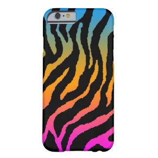 Mönster för randar för tiger för Corey tiger80-tal Barely There iPhone 6 Fodral