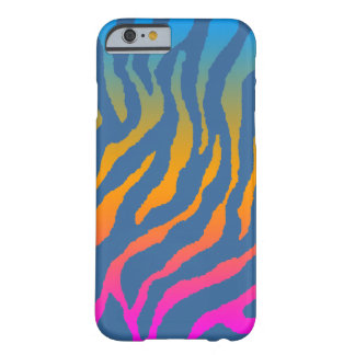 Mönster för randar för tiger för Corey tiger80-tal Barely There iPhone 6 Skal