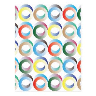 mönster för ring 3D Vykort