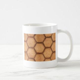 Mönster för solbränna för Suedetygsexhörning mjukt Kaffemugg