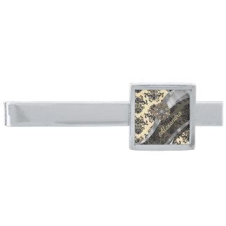 Mönster för söt för personlig kräm- damastast silverpläterad slipsnål
