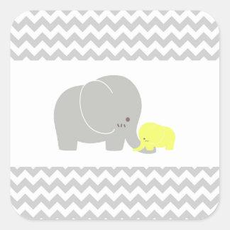 Mönster för sparre för baby shower för fyrkantigt klistermärke