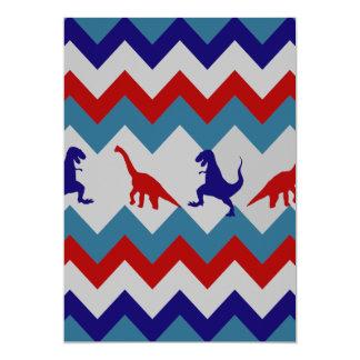 Mönster för sparre för blått för roliga 12,7 x 17,8 cm inbjudningskort