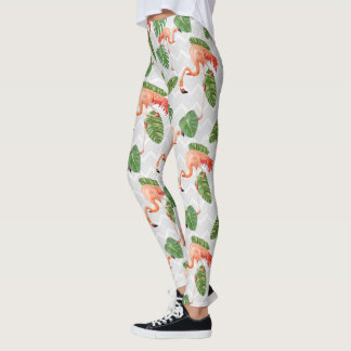 Mönster för sparre för löv för banan för leggings
