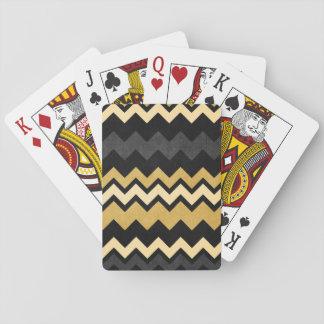 Mönster för sparre för moderna svartgrått guld- casinokort
