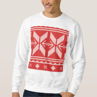 Mönster för sticka för jumper för vitjul abstrakt sweatshirt