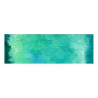 Mönster för struktur för vattenfärg för set av smala visitkort