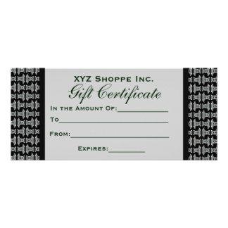 Mönster för svart vit för presentkort stam- reklamkort