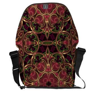 Mönster för Tapestry för Kaleidoscopekorabstrakt Kurir Väska